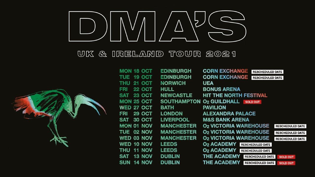 DMA'S 2021 UK & Ireland tour new dates